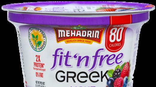 Mehadrin  Mixed Berry  Greek Fit n' Free Yogurt 5.3oz