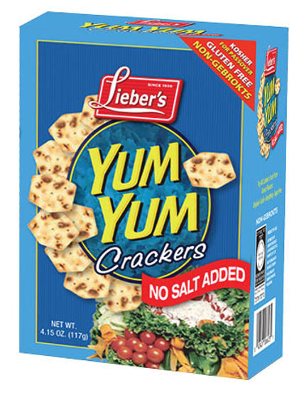 Lieber's No Salt Added Yum Yum Crackers 4.15 oz.