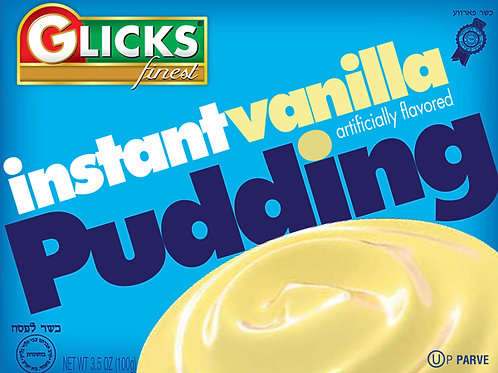 Glicks Instant Vanilla Pudding 3.75oz