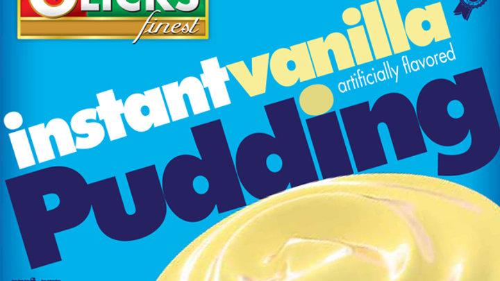 Glicks Instant Vanilla Pudding 3.75oz
