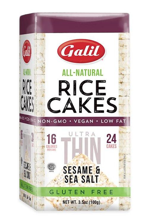 Galil Ultra Thin Rice Cakes Sesame/Salt 3.5 oz