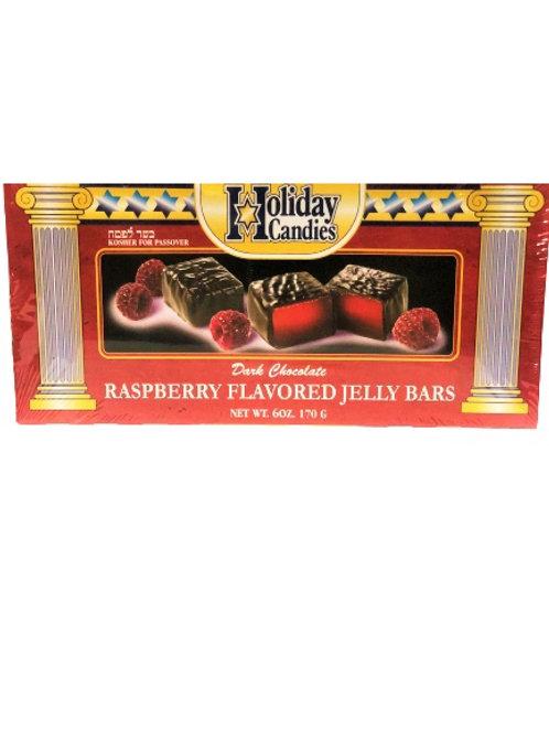 Holiday Raspberry Jell Bars Pareve 6 Oz