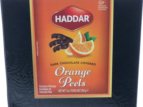 Haddar Orange Peels Dark Choc 7oz