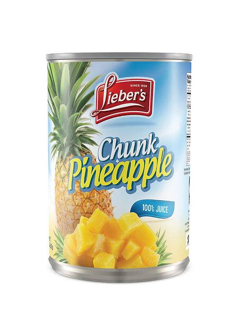 Lieber's Chunk Pineapple 20 oz.