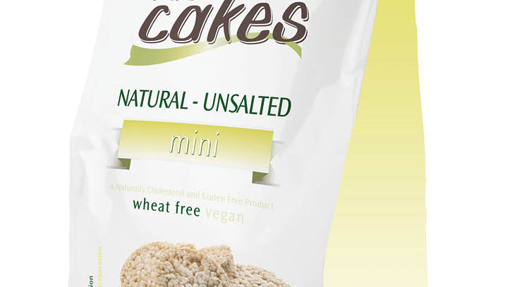 Lieber's Bite Size Unsalted Rice Cakes 80 gr.