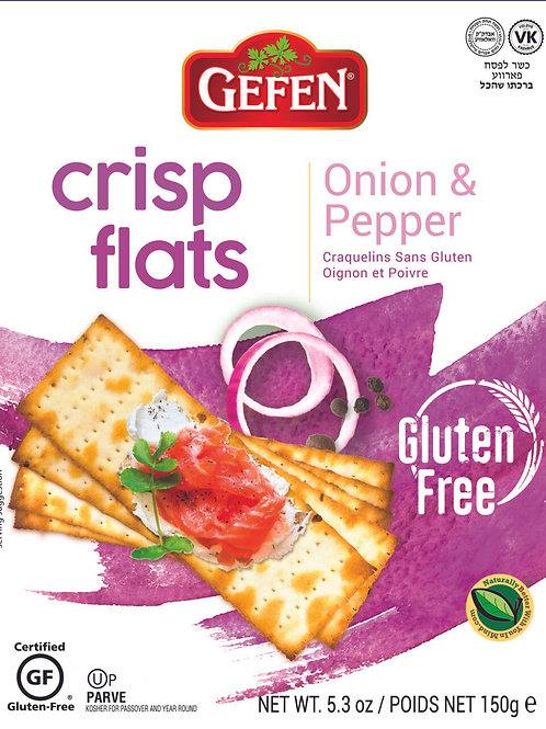Gefen Onion & Pepper Crisp Flats 5.2oz