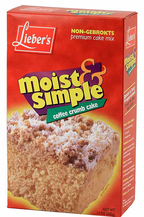 Lieber's Coffee Crumb Cake Mix with Coconut Topping 14 oz.