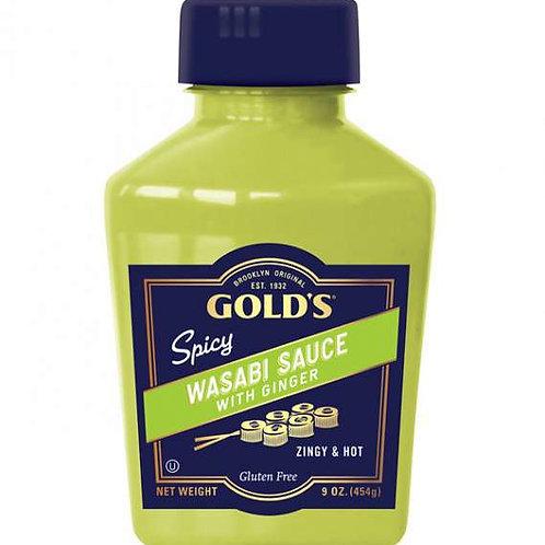 Golds Wasabi Sauce Squeeze 9 Oz