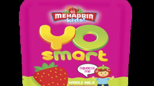Mehadrin  Strawberry  Yo Smart Yogurt Pouch  3.5oz