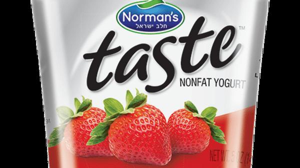 "Norman's ""Taste"" Strawberry Yogurt 5 Oz."
