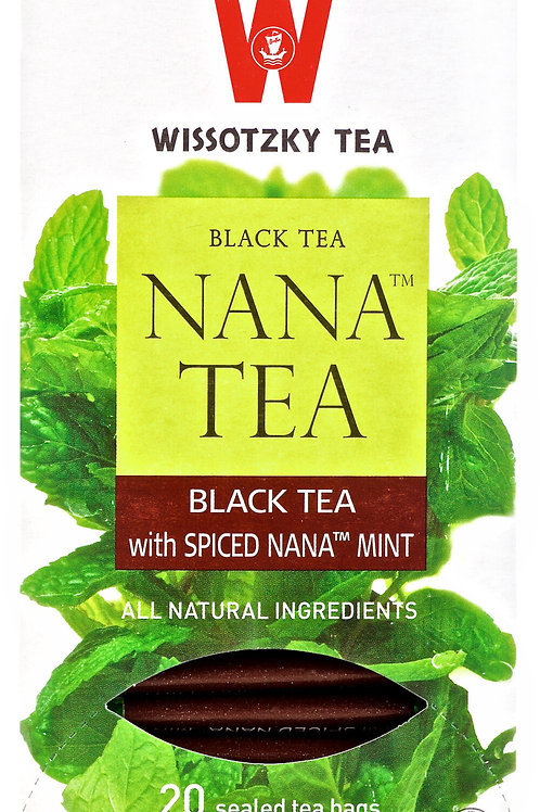 Wissotzky Black Tea Spiced Nana Mint
