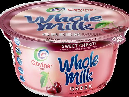 Gevina  Sweet Cherry  Greek Yogurt WHOLE MILK Blended 5.3oz