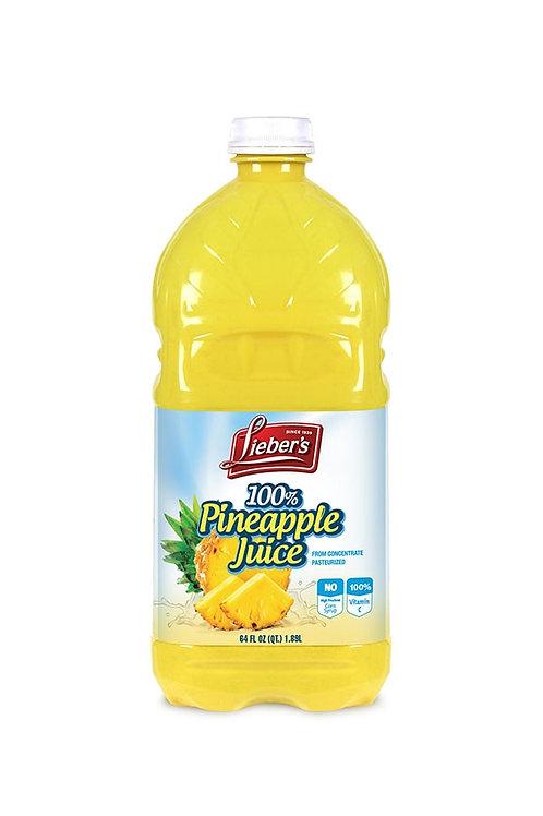 Lieber's Pineapple Juice 64 oz.