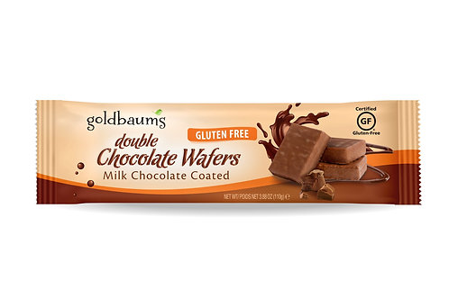 Goldbaums Double Chocolate Coated  Wafers 3.88 oz.