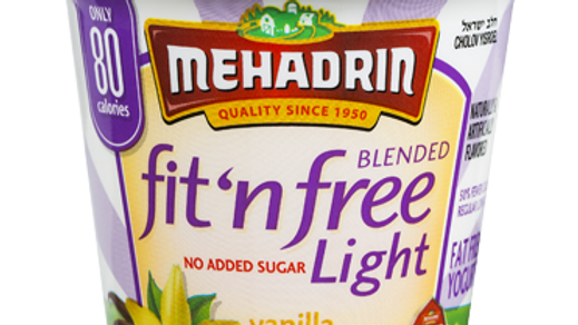 Mehadrin  Vanilla  Fit 'n' Free Yogurt 6oz