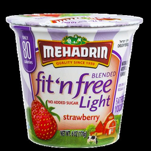 Mehadrin  Strawberry  Fit 'n' Free Yogurt 6oz