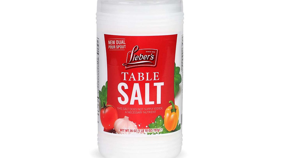 Lieber's Table Salt 26 oz