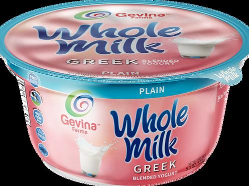 Gevina  Plain  Greek Yogurt WHOLE MILK Blended 5.3oz