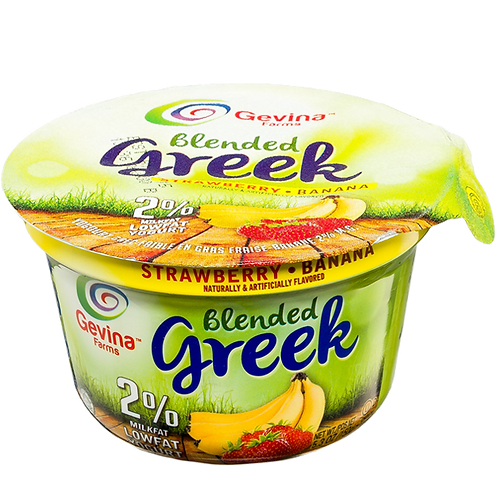 Gevina  Strawberry-Banana  Greek Yogurt 2% Blended 5.3oz
