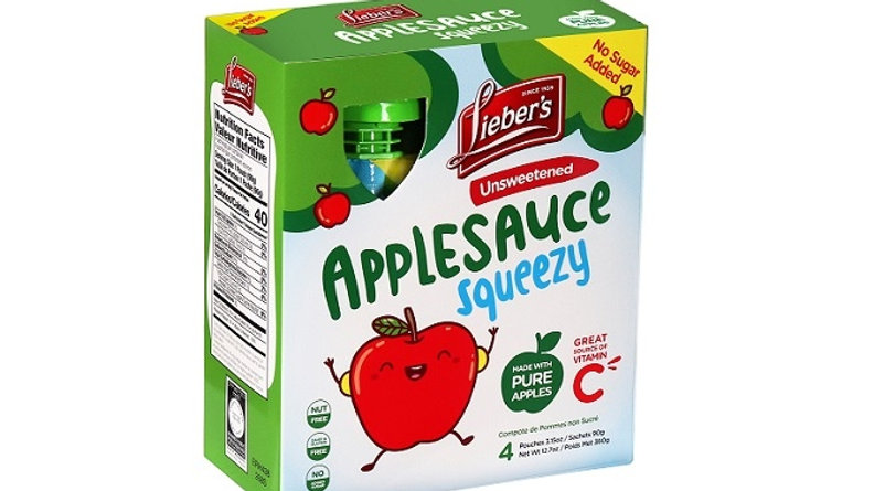 Lieber's Apple Sauce Pouches (Unsweetened) 4/3.15 oz.
