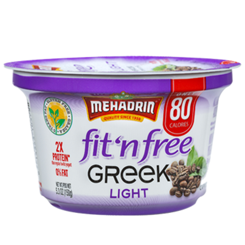 Mehadrin  Cappuccino  Greek Fit n' Free Yogurt 5.3oz