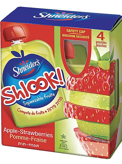 Shneider's SHLOOK Apple & Strawberry Sauce 4/3.17 oz.