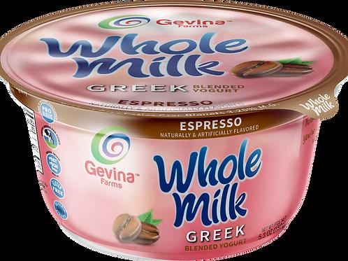 Gevina  Espresso  Greek Yogurt WHOLE MILK Blended 5.3oz