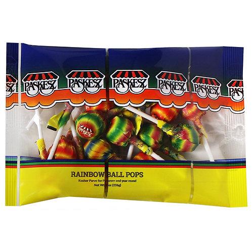 Paskesz Rainbow Ball Pops 8oz