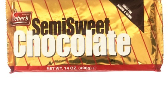Lieber's Pure Semisweet Choc. Bar 14 oz.