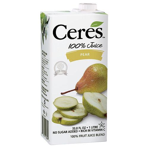 Ceres 100% Juice Pear 33.8oz
