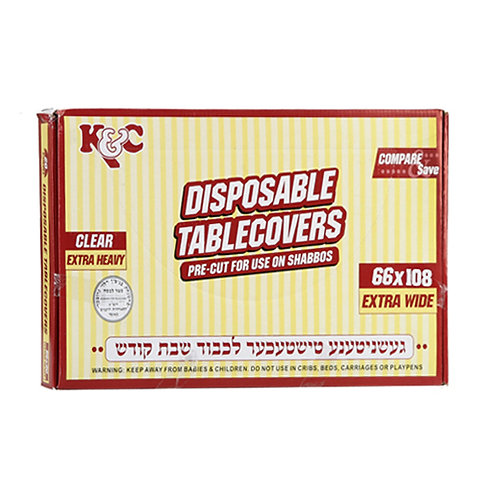 """K.C. Table Covers 66""""x108"""" 13ct"""