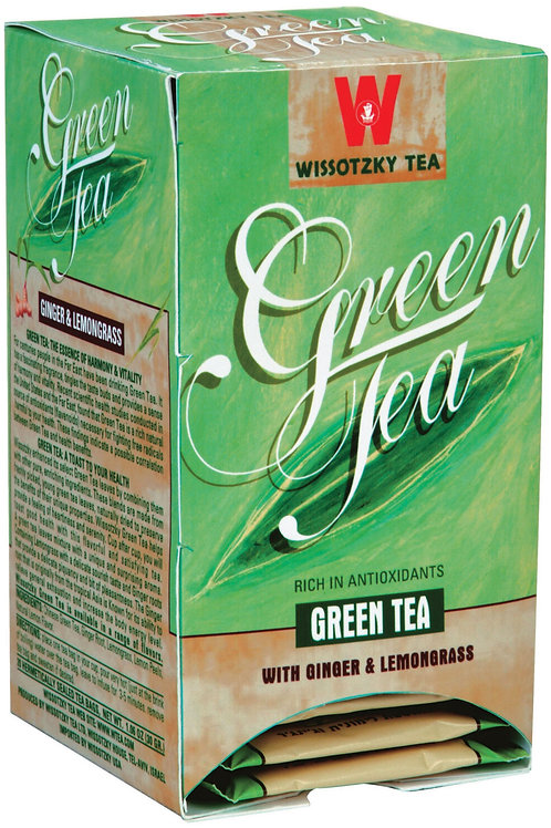 Wissotzky Green Tea W/Ginger & Lemongrass