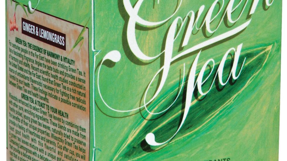 Wissotzky Green Tea W/Ginger & Lemongrass