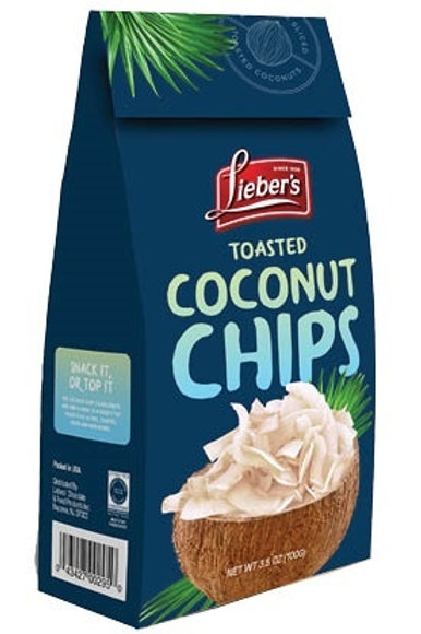 Lieber's Toasted Coconut Chips 3.5 oz.