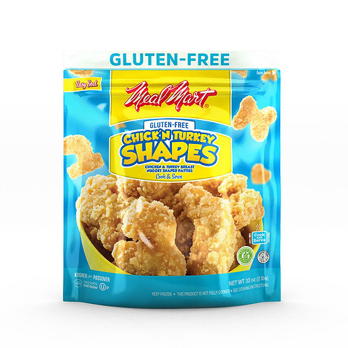 Meal Mart Chick'n Turkey Shapes Nuggets (Gluten Free) 32oz