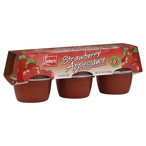 Lieber's Strawberry Apple Sauce 6/4 oz