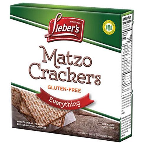 Lieber's Gluten Free Matzo Everything 10.5 oz.