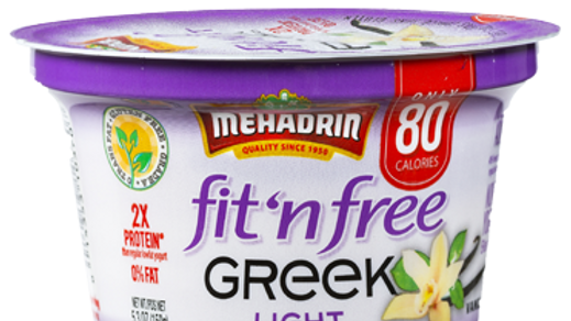 Mehadrin  Vanilla  Greek Fit n' Free Yogurt 5.3oz