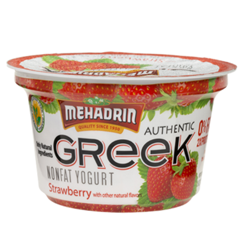 Mehadrin  Strawberry  Greek Yogurt 6oz
