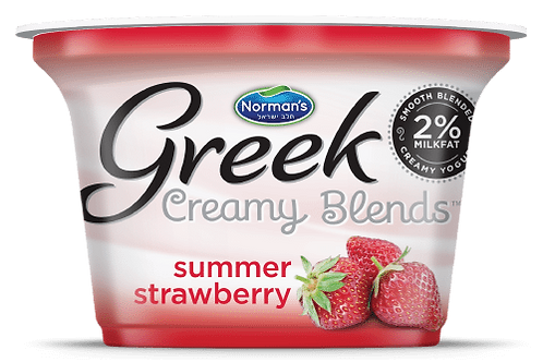 "Norman's Creamy Blends 2% ""Summer Strawberry"" 5.3 Oz."