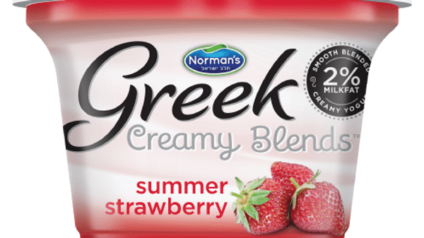 "Norman's Creamy Blends 2% ""Summer Strawberry"" 5.3 Oz."