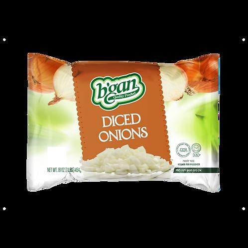 B'gan Diced Onions 16oz