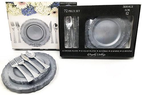 Royalty Settings 72 Pc Set Silver