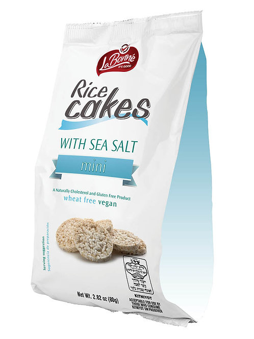 Lieber's Bite Size Salted Rice Cakes 80 gr.