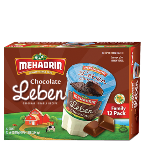 Mehadrin  Chocolate Leben Family Pack 12/6oz