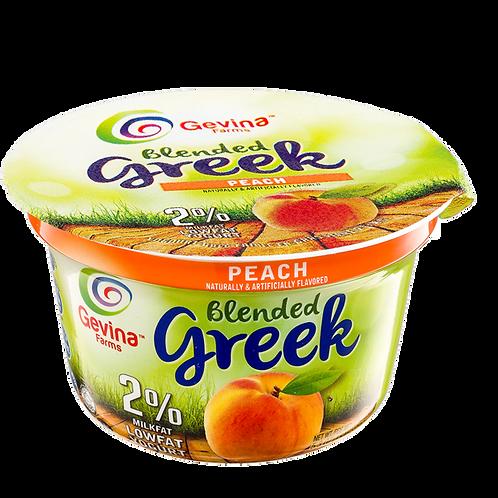 Gevina  Peach  Greek Yogurt 2% Blended 5.3oz