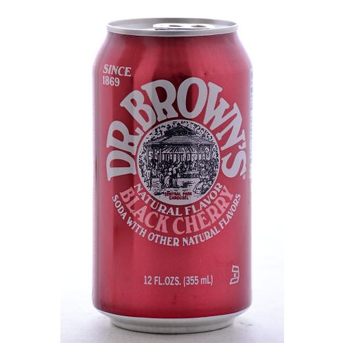Dr Brown Cream Soda Black Cherry 12oz
