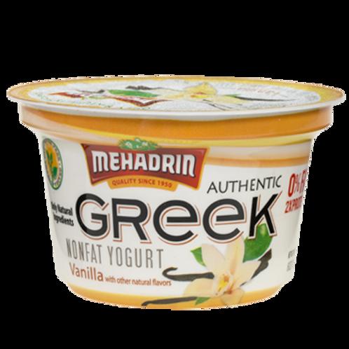 Mehadrin Vanilla Greek Yogurt 6oz