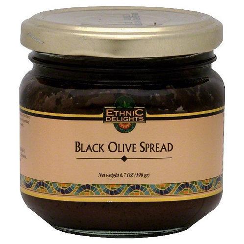 Ethnic Delights Black Olive Spread Kitniot 6.7 Oz