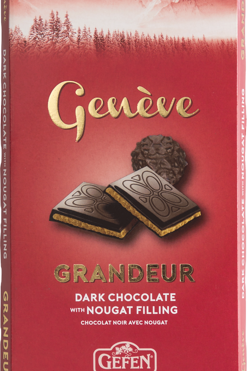 Gefen Geneve Dark Chocolate Bar With Nougat
